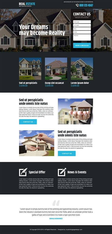 Landing Page Design The Best Real Estate Landing Pages by 25 Best Real Estate Landing Page Design Images On