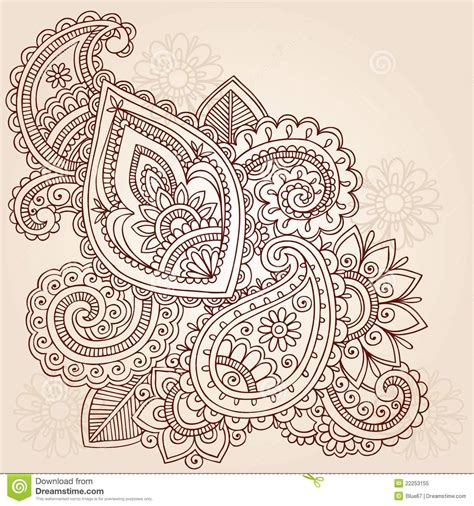 50 paisley pattern tattoos designs