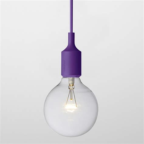 Purple Pendant Light Muuto E27 Pendant Light Purple Contemporary Pendant Lighting By Panik Design