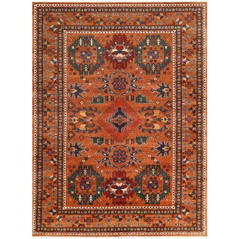 vegetable dye rugs afghan knotted vegetable dye turkoman wool rug 8 x
