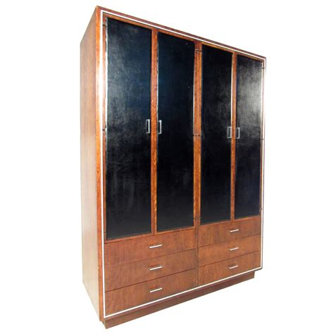 John Stuart for Widdicomb Mid Century Modern Wardrobe Armoire For Sale at 1stdibs