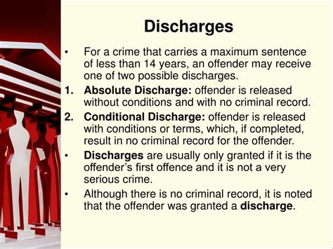 Conditional Discharge Criminal Record Ppt From Sentencing To Release Powerpoint Presentation Id 172989