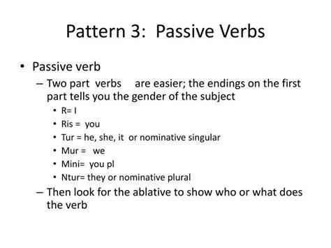 subject verb pattern definition ppt grammar notebook appendices powerpoint presentation