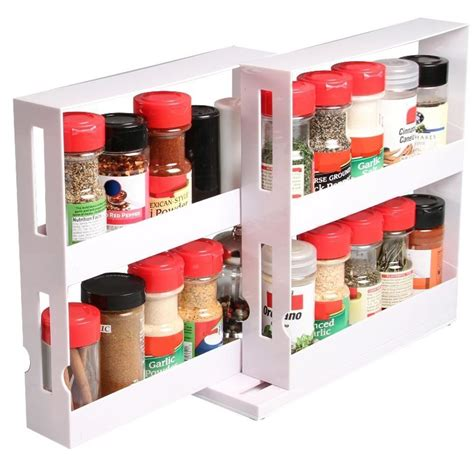Kitchen Shelf Organisers Uk Spice Jars Swivel Storage Rack Kitchen Cabinet Shelf Stack