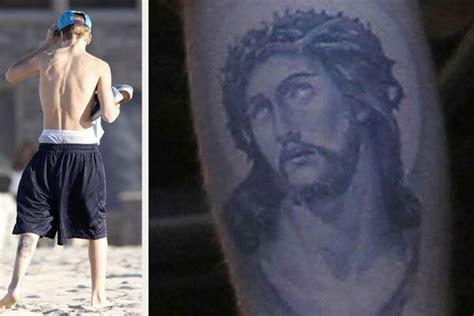 justin bieber tattoo jesus hebrew justin bieber tattoos what do justin s bieber s tatts mean