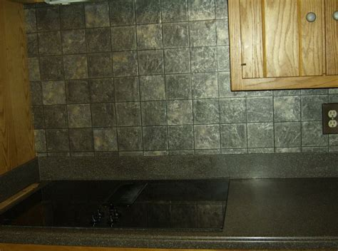 faux tile wallpaper backsplash dimensional really looks