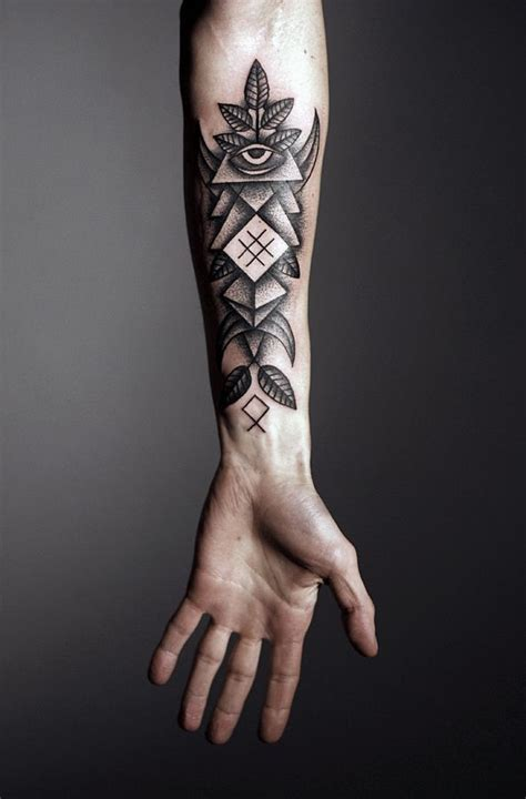 tattoo maker on arm black arm tattoo design