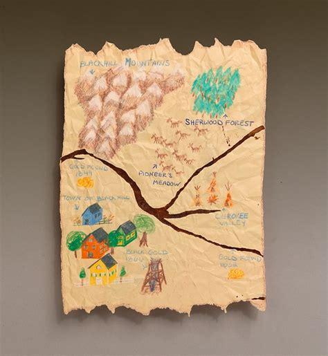 Map Craft Paper - eureka it s gold craft crayola