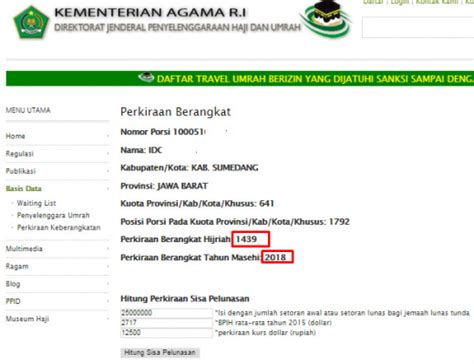 estimasi nomor porsi haji jawa timur tahun 2012 sd tahun 2022 pengumuman daftar nama calon jamaah haji 2015 cara