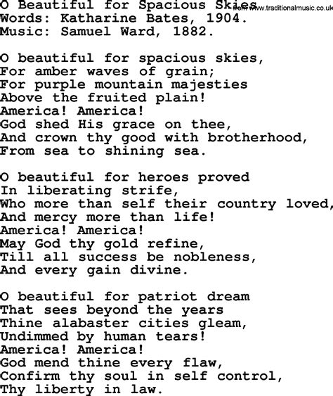 most beautiful in the room lyrics most popular church hymns and songs o beautiful for spacious skies lyrics pptx and pdf