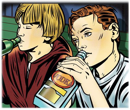 cartoon drinking alcohol stock illustration teenage boys drinking alcohol