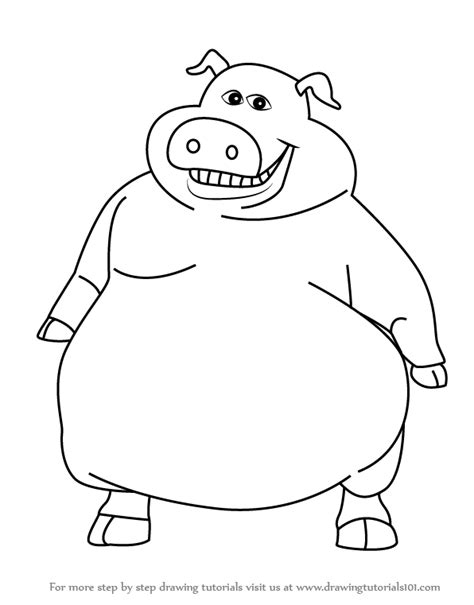 how to a pig learn how to draw pig from barnyard barnyard step by step drawing tutorials