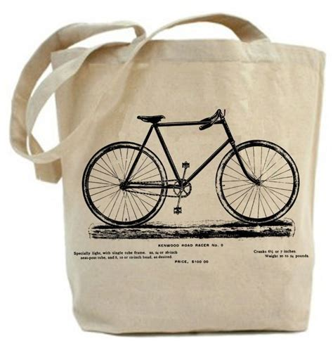 Tote Bag Kanvas Kanvas Printing Tas Ptinting vintage bicycle tote bag canvas tote bag recycled 183 paisleymagic 183 store powered by