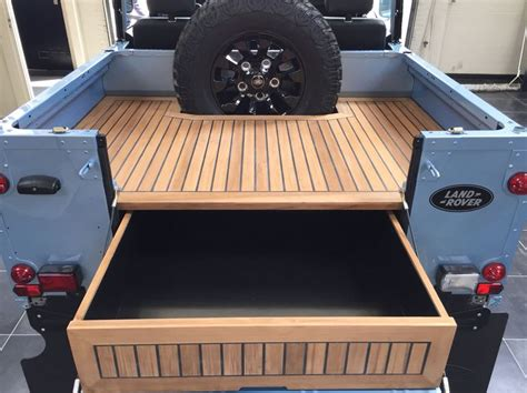 land rover wooden tophat restored defender 90 with top and teak