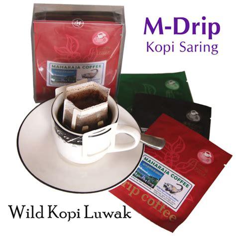 Kopi Arabika Drip Bag Arabica Coffee Pack Kopi Hilbrew 5 wildkopiluwak by maharaja coffee products