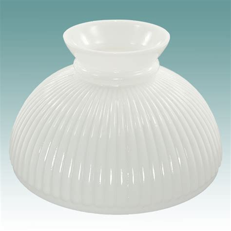 Glass Student L Shades by 2315 White Ribbed Student Shade 10 Quot Glass Lshades