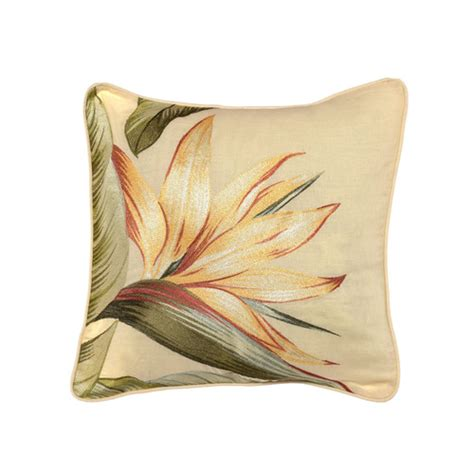 bedding decorative pillows tommy bahama bedding birds of paradise embroidered throw pillow reviews wayfair