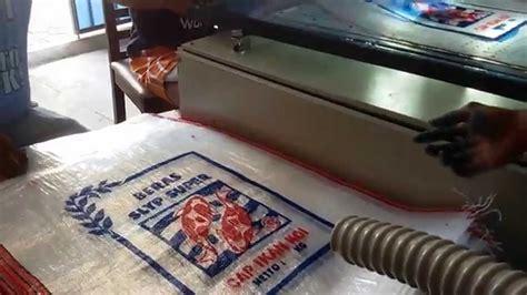 Jual Karung Goni Plastik mesin sablon karung hp 085810800749