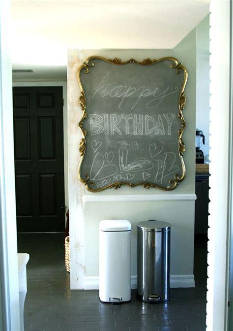 diy chalk paint mirror chalkboard with gold scroll frame chalkboard paint