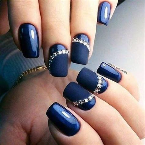 imagenes de uñas de acrilico azul marino u 241 as decoradas azul marino decoracion de u 241 as