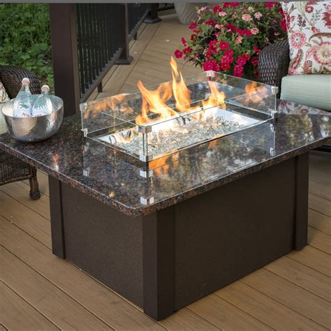Shop Outdoor Greatroom Company 36 In W 65000 Btu British Patio Fireplace Table
