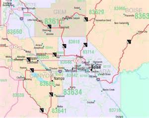 Boise Id Zip Code Map by Idaho Zip Code Map