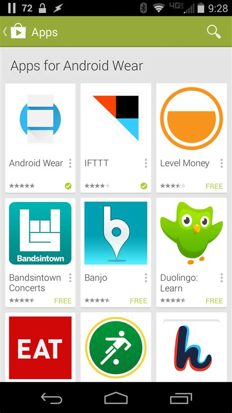 how to find android wear apps in the play store
