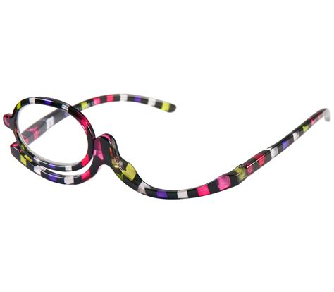 make up multi coloured reading glasses tiger specs