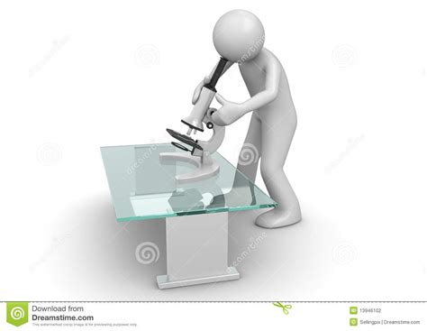 Bookcase Clipart Scientist With Microscope Stock Photography Image 13946102