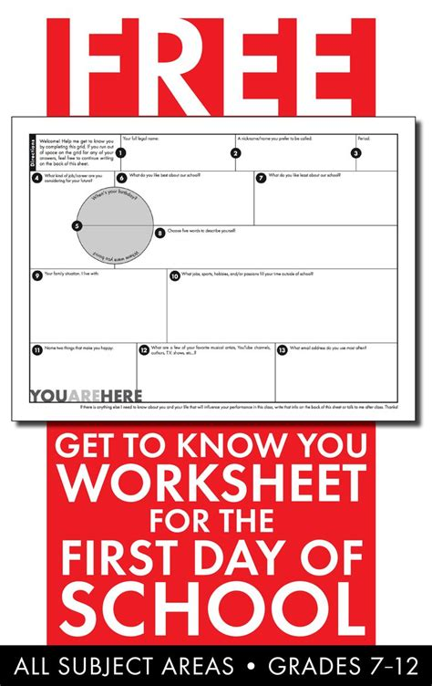 Day Of School Get To You Worksheet by 25 Best Ideas About New Students On New C