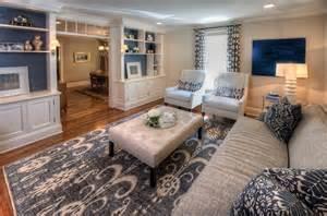 Sitting Room Rugs - navy amp white living room traditional living room