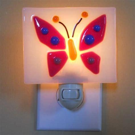 fused glass night lights fused glass night light pink butterfly delphi artist