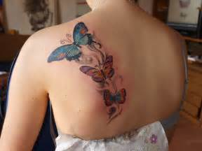 Shoulder tattoo designs 2014 back shoulder butterfly tattoo design