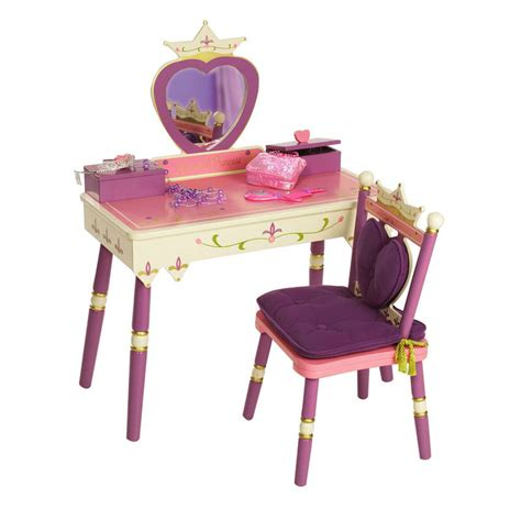 princess makeup table and chair princess vanity table chair set