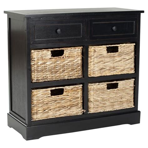 black chest with baskets for the home