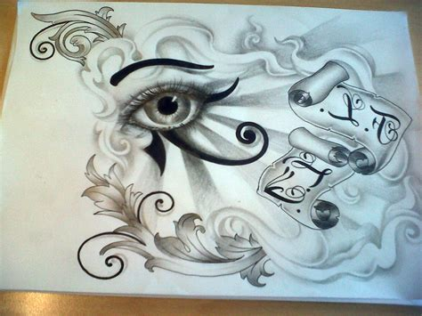 eye design tattoo eye of horus designs cool tattoos bonbaden