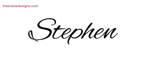 steve name tattoo designs cursive name designs stephen free free