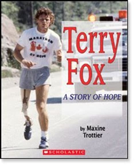 terry fox biography for students kid konnection terry fox a story of hope by maxine