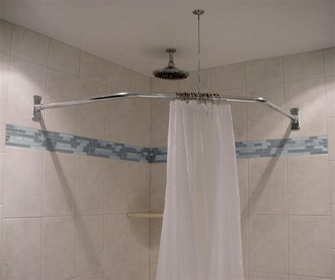 angled shower curtain rod neo angle shower rod 18 1 2 x 26 x 18 1 2