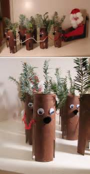 Pics photos toilet paper roll reindeer christmas crafts for children