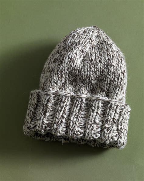 easy hat knitting patterns easy tweed hat in brand fishermen s wool 80958ad