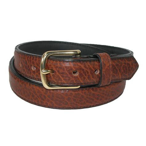mens bison leather 1 25 inch dress belt by boston leather