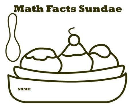 multiplication sundae template math facts sundae printable meeting the educational