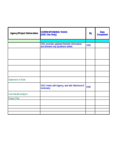 project planning template project implementation plan