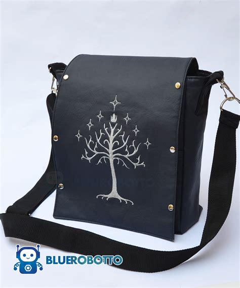 tree bag the white tree small messenger bag blue robotto