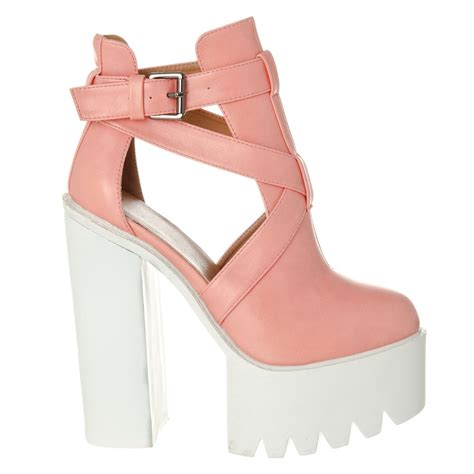 high heel with sole high heel cleated sole platform shoe boot