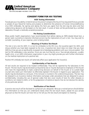 Hiv Test Form Format Fill Online Printable Fillable Blank Pdffiller Hiv Consent Form Template