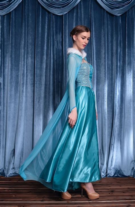elsa k che frozen vestito carnevale donna elsa dress up elsa