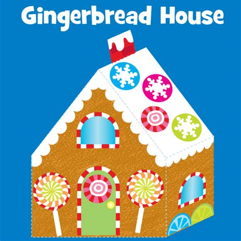 gingerbread house craft for gingerbread house craft project with free printable