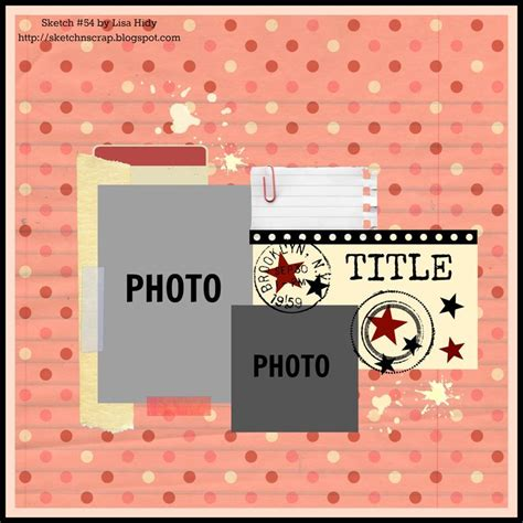 631 best images about scrapbooking sketches on